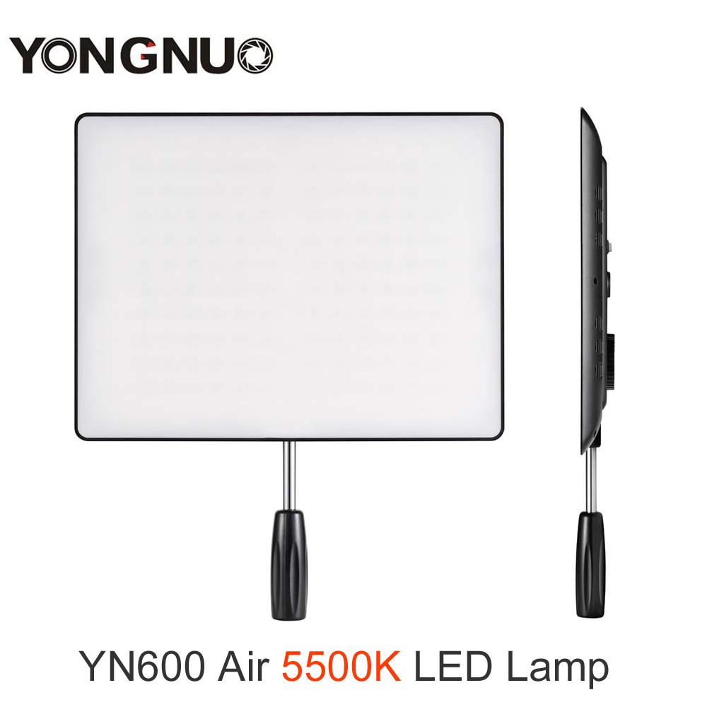 Prix pour YONGNUO YN-600 Air YN600 Air Ultra Mince LED Caméra Vidéo Lumière Panneau 5500 K Photographie Studio Éclairage