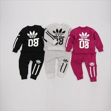 2016 Baby Set Long Sleeve Cotton Baby Girl Baby Boy Clothes Baby Suits high quality Children Set T-Shirt + Pant Spring 3Colors