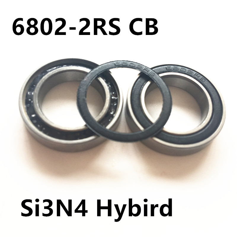Free shipping 6802-2RS 6802 61802-2RS hybrid ceramic deep groove ball bearing 15x24x5mm