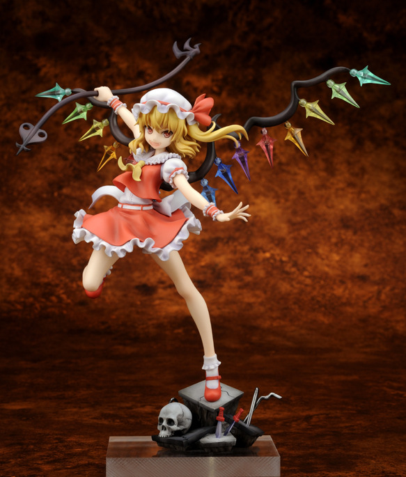 ФОТО 1pcs Touhou Project Remilia 2.Ver Flandre Scarlet action pvc figure model tall 23cm for Collection.