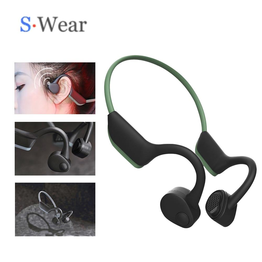 Bluetooth 5.0 S. Wear J20 casque sans fil Conduction osseuse écouteur extérieur mains libres Sport casque avec mise à niveau micro Z8 casques