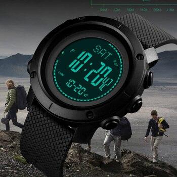 d00d723f1ee9 Relojes hombres podómetro calorías reloj deportivo Digital de las mujeres  altímetro barómetro brújula termómetro clima relogio masculino