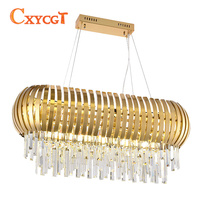 New Design Modern Crystal Chandelier Creative Dining Room Luxury Hanging Lamp Gold LED Lighting Chandeliers