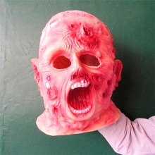 Free shipping Halloween Cosplay Scary Bloody Zombie mask latex bloody scary halloween mask adutl costume party