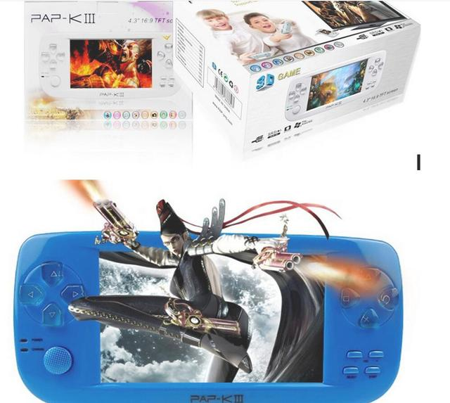 """PAP KIII 4.3"""" Handheld Games Consoles 4GB Portable Video Game Built in 600 Games with Camera Support CP1/CP2/NEOGEO/GBA/GBC/GB"""