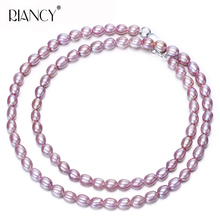 Trendy Natural freshwater Small Pearl Lengthened necklace 925 sterling silver Multipurpose pearl Jewelry wedding gift