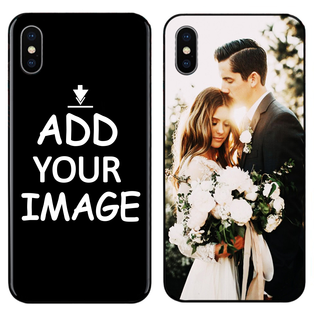 Custom Personalized Make your Photo images pattern Phone Black Sotf TPU Cover Case for iPhone 6 6S 7 8 Plus 5s 5 X XR XS MAX in Half wrapped Cases from Cellphones Telecommunications