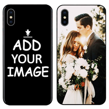 Custom Personalized Make your Photo images pattern Phone Black Sotf TPU Cover Case for iPhone 6 6S 7 8 Plus 5s 5 X XR XS MAX