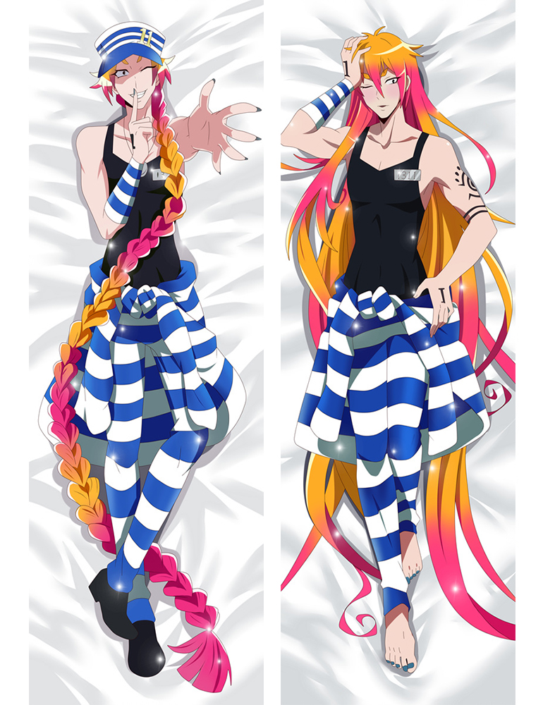 Detentionhouse Nanbaka Characters Cool Boy Uno Hugging Body Throw Dakimakura Pillow Cover Case Pillowcase 710042