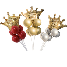 1pc  Crown Ballon Round Latex Birthday Party Childrens Day Wedding & Engagement