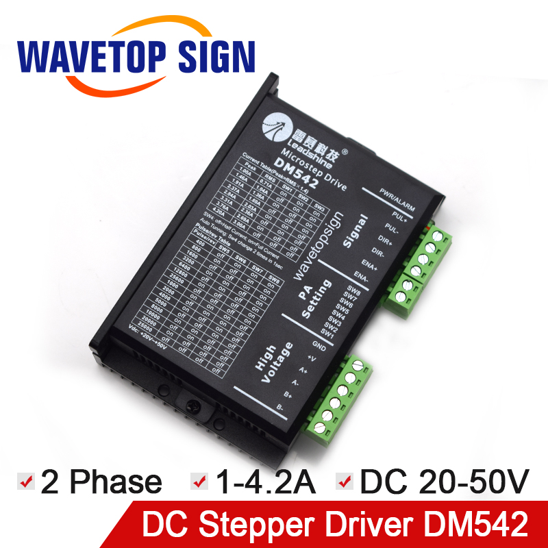 Original Leadshine 2 phase stepper motor driver DM542 input voltage DC20-50V current 1.0-4.2A match with the motor 57 60 86