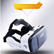 VR Boss G Oogleความจริงเสมือนเกมเครื่องกระดาษแข็ง3หมวกกันน็อคสมาร์ทแว่นตาพร้อมไมโครโฟน