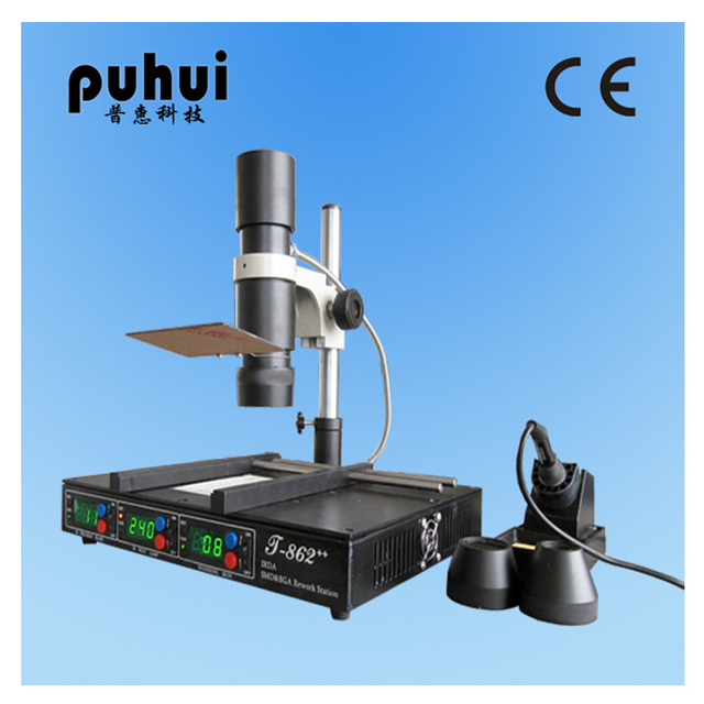 New Arrival PuHui T862++ INFRARED REWORK BGA STATION IRDA WELDER T862++ BGA MACHINE