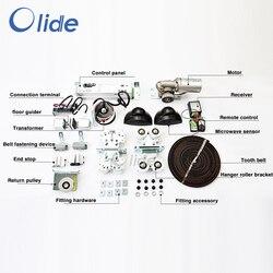 Automatyczny mechanizm otwierania drzwi szklanych bez szyny transportowej i pokrywy dla maksymalnej masy drzwi przesuwnych 150kg na liść