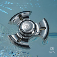 FEGVE Fidget Spinner Stainless Steel Hand Spinner Tri For Kids Autism ADHD Anxiety Stress Relief Focus