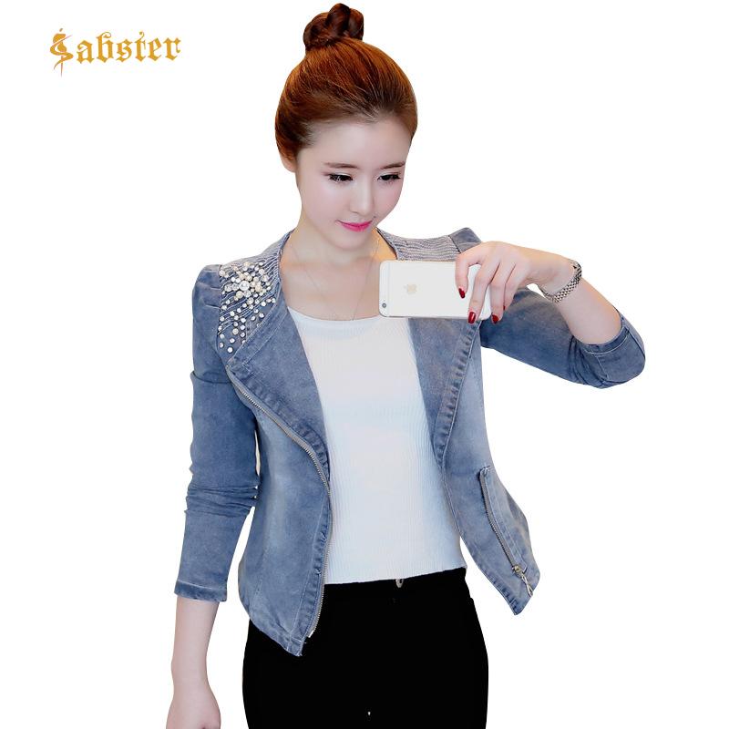 2018 Spring Autumn New Arrival Slim Denim Jacket Women Vintage Zipper Jeans Coat Casual Female Short Jacket Overcoat XZ319