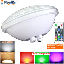 Luces LED sumergibles impermeables IP68, 24W, 36W, para fuente y estanque, luz de piscina, DC 12V, foco exterior RGB, PAR56