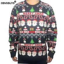 Funny Knit Ugly Christmas Sweater for Men Cute Christmas Party Knitted Men's Ugly Christmas Sweaters Plus Size plus size light up christmas ugly sweatshirt