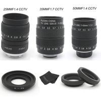 FUJIAN 25mm F1.4 CCTV Movie camera Lens + 35mm f1.7 camera Lens + 50mmf1.4 camera Lens for Fuji Fujifilm X E2 X E1 X Pro1 X M1 X
