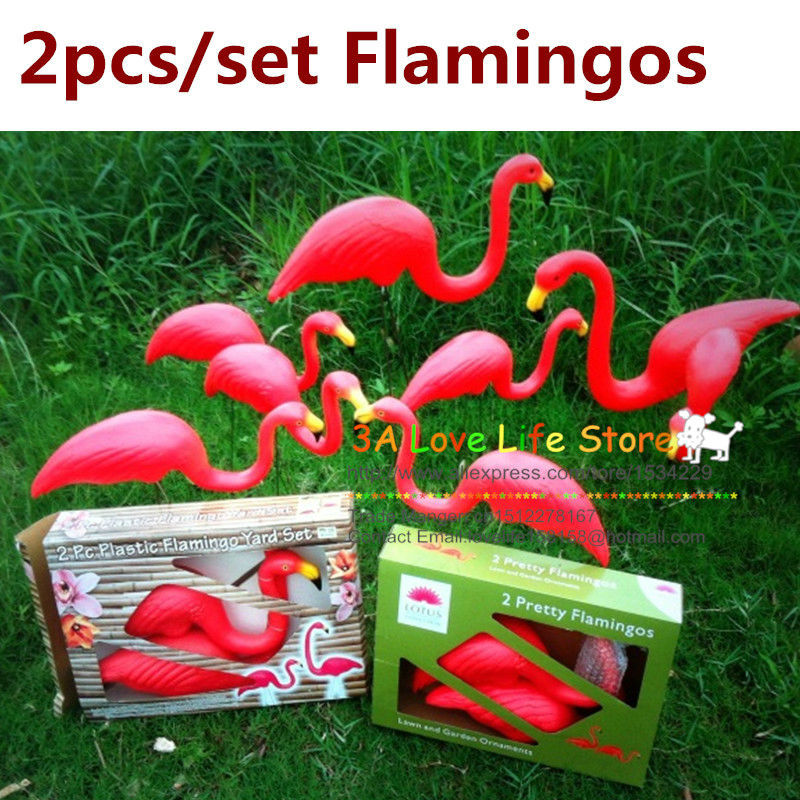 Aliexpresscom Buy one pairs red plastic lawn flamingos for