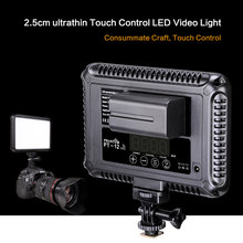 Touch Control LED Video Photography Light Photo Lighting LED Lamp With Camera Hotshoe for Canon Nikon Sony DSLR Camera Camcorder