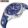 Lo nuevo reloj hombre curren reloj de cuarzo relogios masculinos de luxo marcas famosas horloge reloj con correa de cuero de negocios 8224