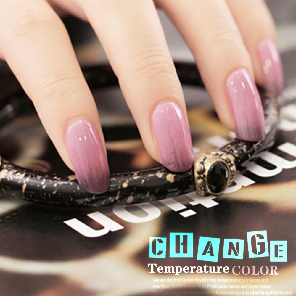 Color Changing Gel Nail Polish: Yao Shun 8ml Chameleon Nail Gel Polish Temperature Thermal