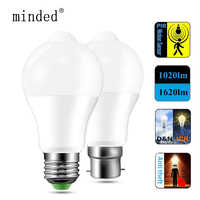 LED PIR Motion Sensor Lamp E27 B22 12W 18W Automatic ON/OFF LED Bulb Light Sensitive Human Body Movement Detector Ampoule Sensor