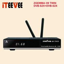 4K UHD Linux Zgemma H9 트윈 2x DVB S2X HEVC H.265 WIFI 내장 2 * CI + sat tv 수신기