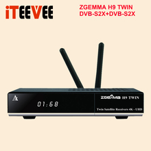 Zgemma H9 TWIN receptor de televisión por satélite, DVB S2X HEVC H.265, 4K, UHD, Linux, 2x, wi fi integrado