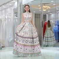 Великолепная Высокая шея платье для выпускного вечера Новое поступление Двойка длинные Вечеринка платье плюс Размеры индивидуальный зака