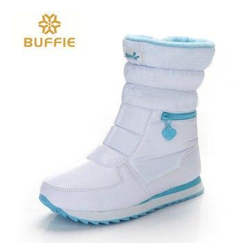 Белые зимние сапоги женские модные зимние сапоги новый стиль 2018 женская обувь Брендовая обувь Высокое качество Быстрая Бесплатная доставк...