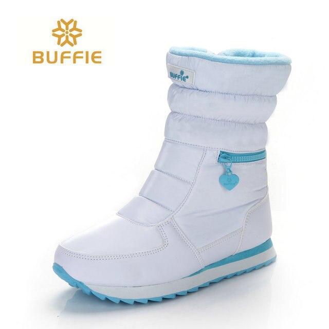 Witte winter laarzen vrouwen mode snowboots nieuwe stijl 2018 vrouwen schoenen Merk schoenen hoge kwaliteit snelle gratis verzending girlw laarzen