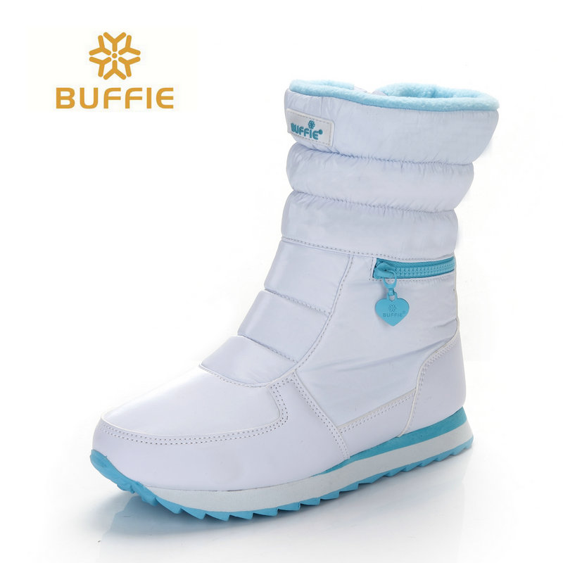white winter boots women fashion snow boots new style 2017 women