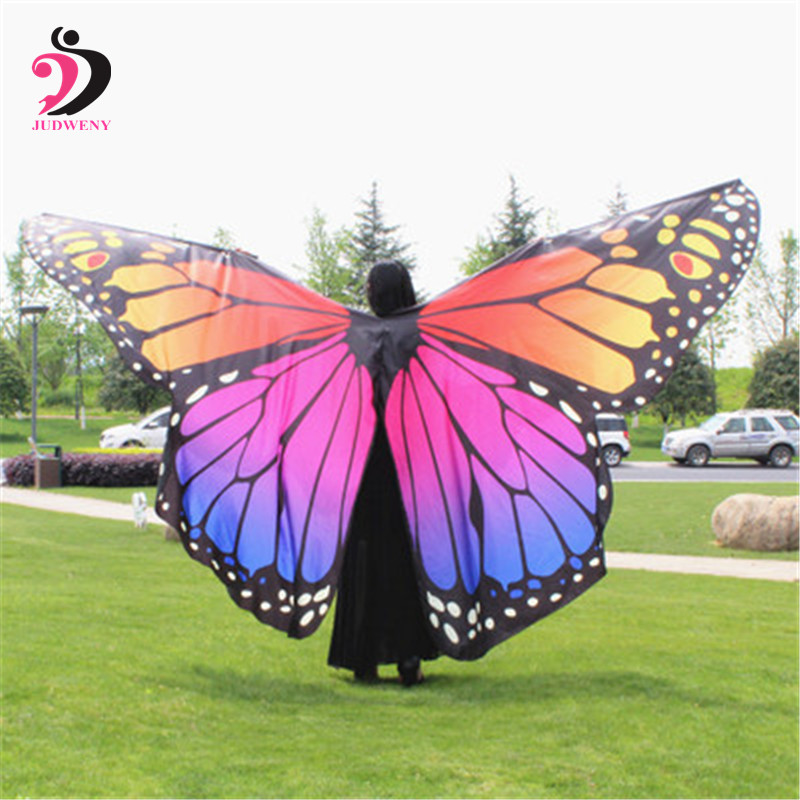 Belly Dance Wings For Women Adult Butterfly Wings Costume Belly Dancing Costume Oriental Indian Isis Wings With Sticks
