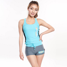 2015 hot selling Women Tankini Swimsuit Sports Swimming 2 pcs Shorts