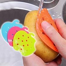 Профессиональная фруктовая щетка для овощей, легкая чистка для картофеля, кухонные домашние гаджеты, 2 шт, щетка для овощей, чистящие инструменты