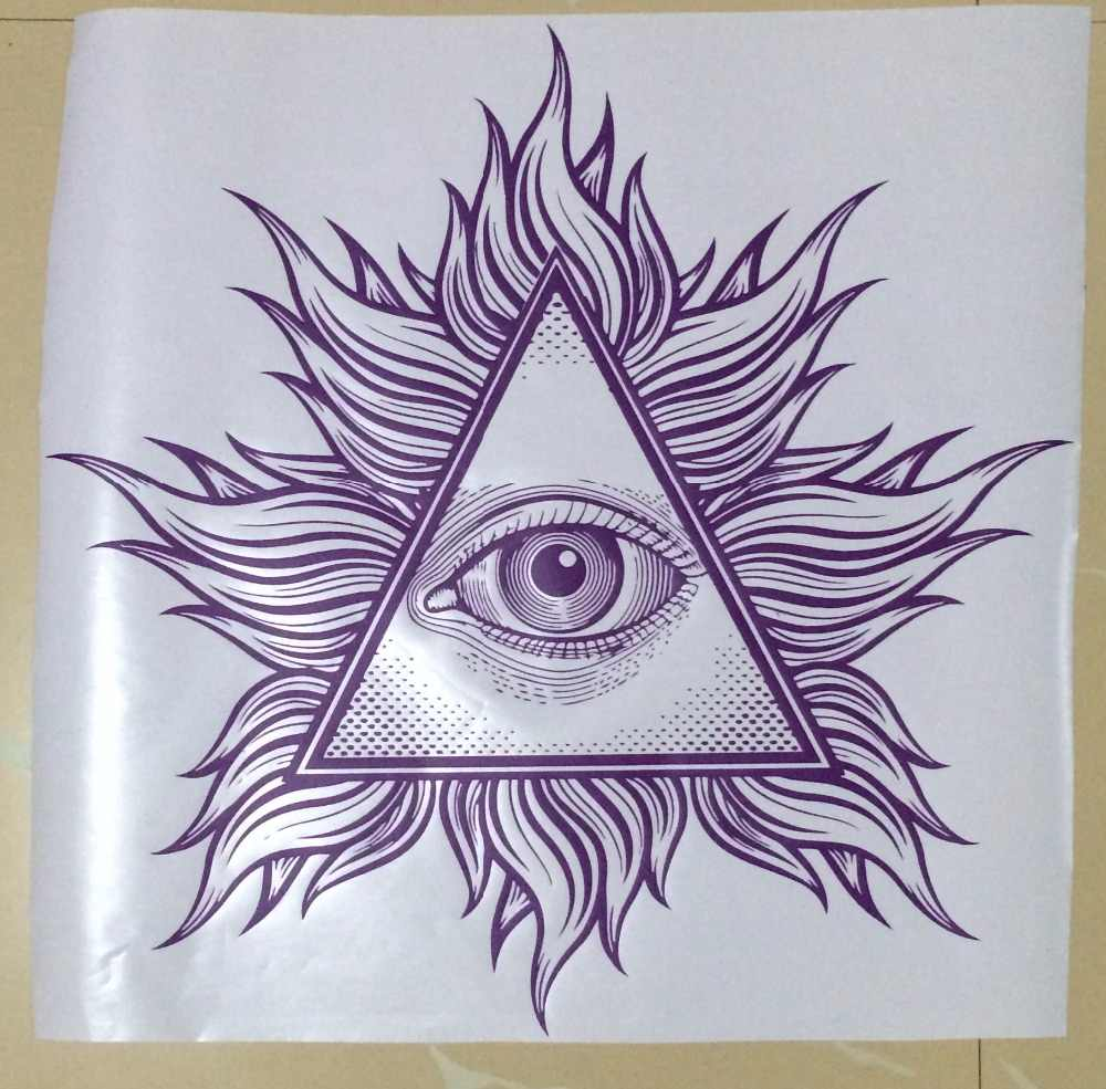 All Seeing Eye Wall Vinyl Decal Illuminati Sigh Pyramid Sticker Decor  Living Room Art Murals Creative Housewares Design