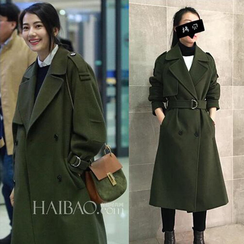Images of Green Wool Coat - Reikian