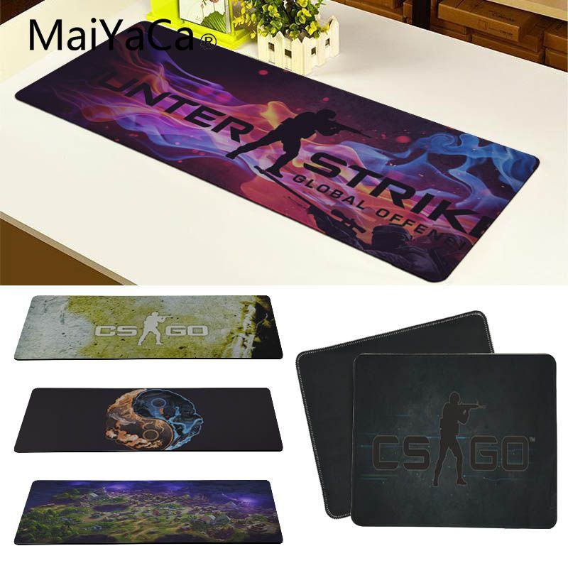 MaiYaCa tappetini per tappetini in gomma con chiusura di sicurezza per Cs Go Counter Strike Mouse Mat Design fai da te Pattern Computer Gaming Cloud Mouse Pad