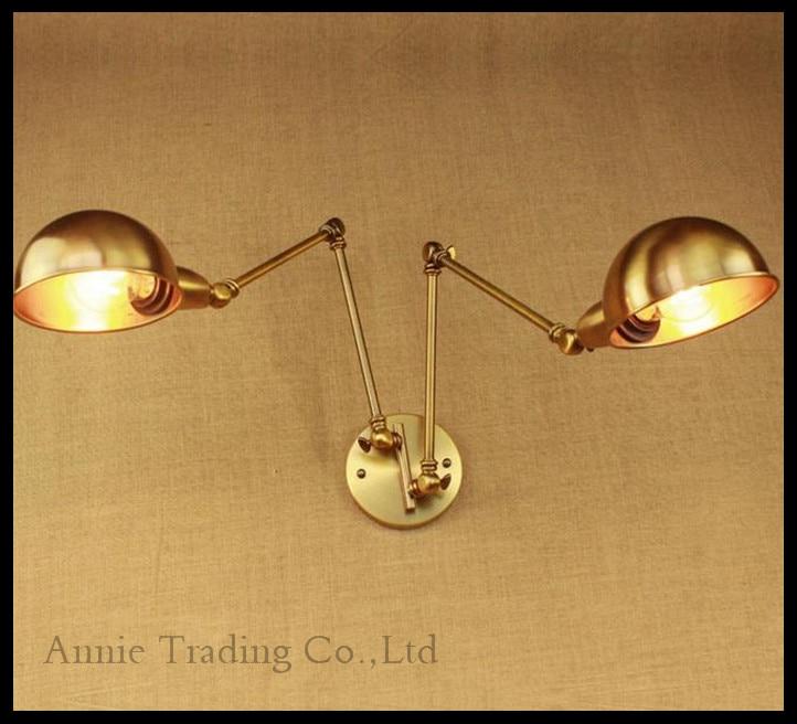 art deconew bronze retro retro wall light iron arm double aisle living living room gold. Black Bedroom Furniture Sets. Home Design Ideas