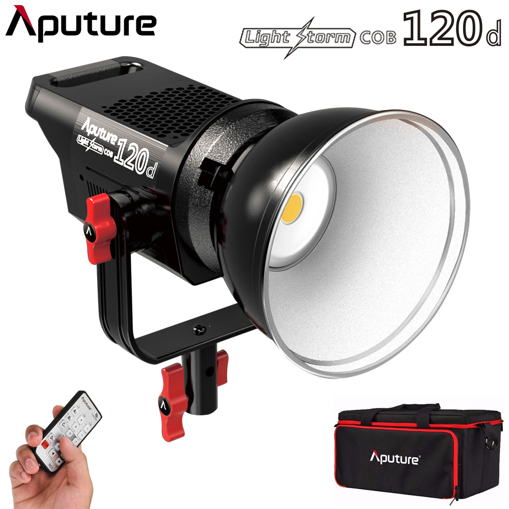 Aputure Light Storm COB 120D 135W 6000K LED Continuous Video Light CRI97+ Bowens Mount With Remote Control For Video Photo Film
