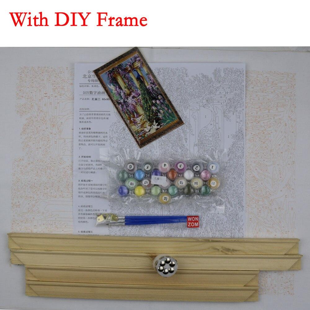Diyの孔雀油絵by数字quadri da - 室内装飾 - 写真 4