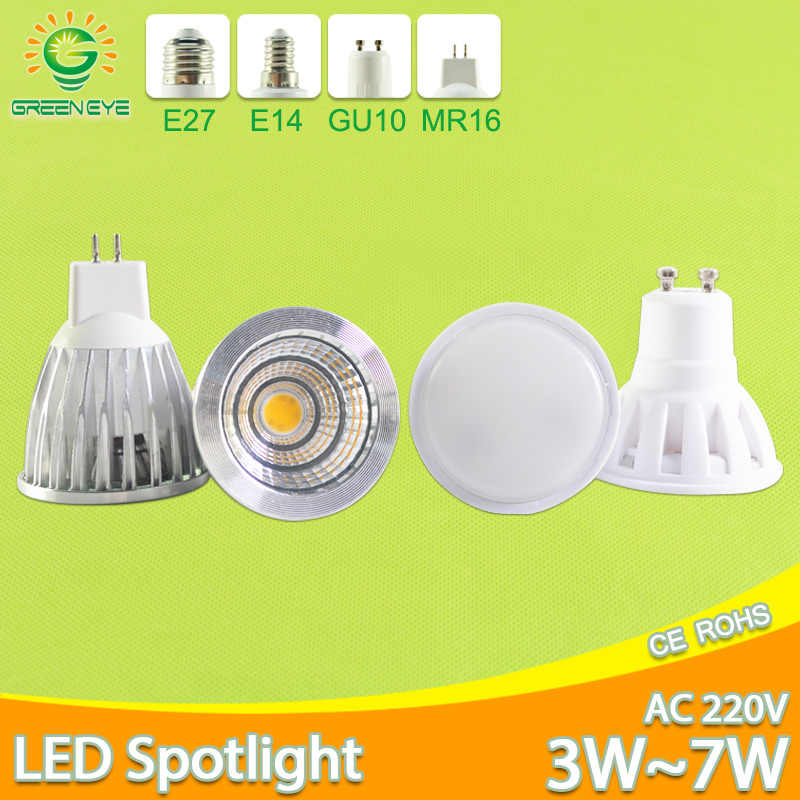 LED Lamp GU10 MR16 E27 E14 LED Bulb 3W 5W 6W 7W AC 220V 240V Lampada aluminum LED Spotlight Energy Saving Home Lighting