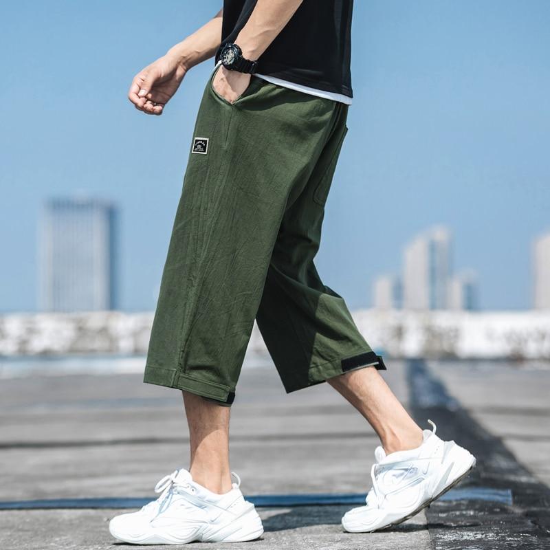 Men Solid Harem Pants Man Harajuku Loose Hip Hop Joggers Pants Male Armygreen Designer Track Pants Plus Size 5xl