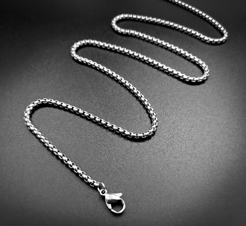 USENSET Rope Chain 304 Stainless Steel Necklaces Box Necklace Pendants Women Jewelry 2 4MM Daily Wear in Chain Necklaces from Jewelry Accessories