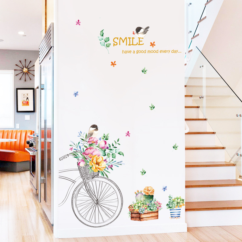 Study Room Decoration Diy: Flower Road Wall Sticker Home Decor DIY Removable For