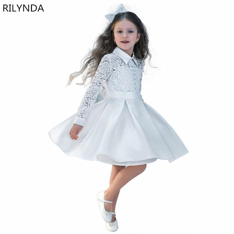 FeiYanSha New Flower Girl Dresses White/Ivory Real Party Pageant Communion Dress Little Girls Kids/Children Dress for Weddi купить