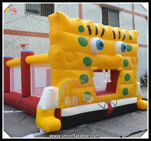 0.55mm PVC Tarpaulin Funny Inflatable SpongeBob Bouncy