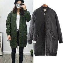 ot Sale Autumn Winter Women Jacket Tops Long Sleeve Slim Turn-Down Collar Army Green BlackOutwear Women Coat BI00129